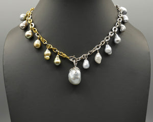 Dangling Baroque South Sea Pearl Necklace