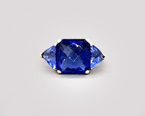 Iolite Three Stone Ring