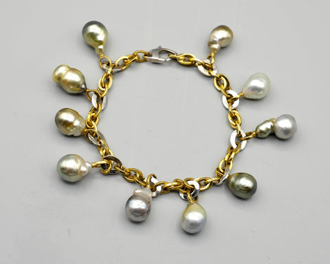 Dangling Baroque South Sea Pearl Bracelet