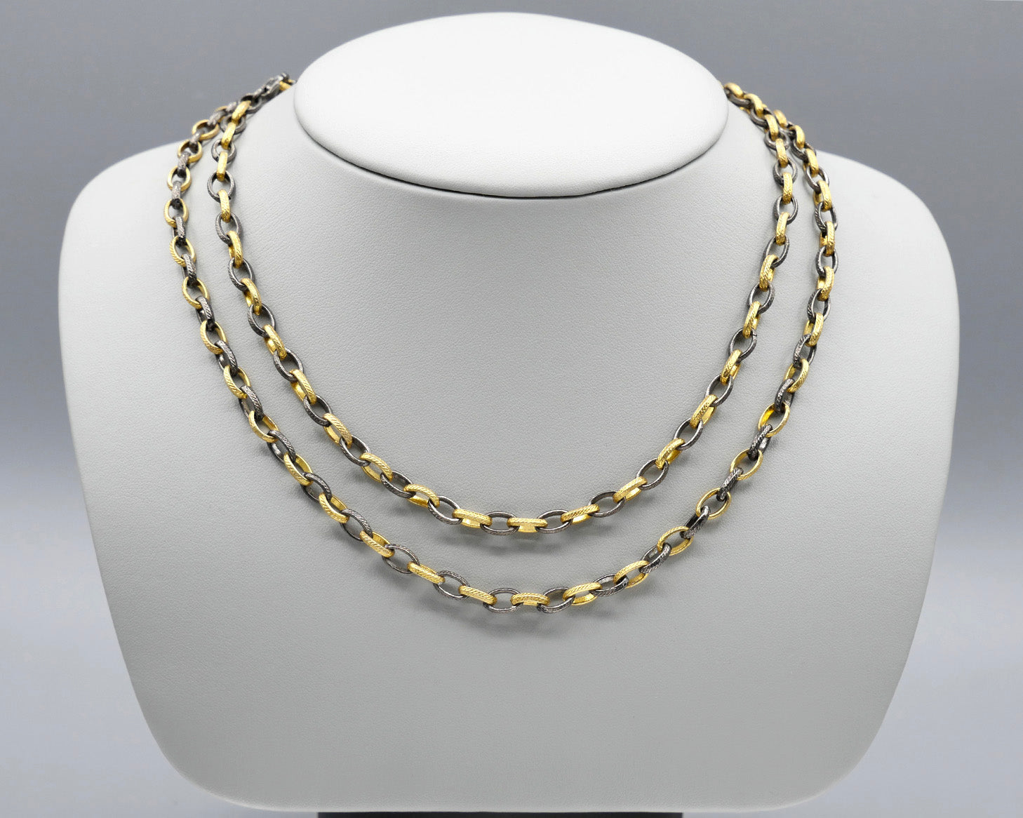 Two-tone Chain Necklace