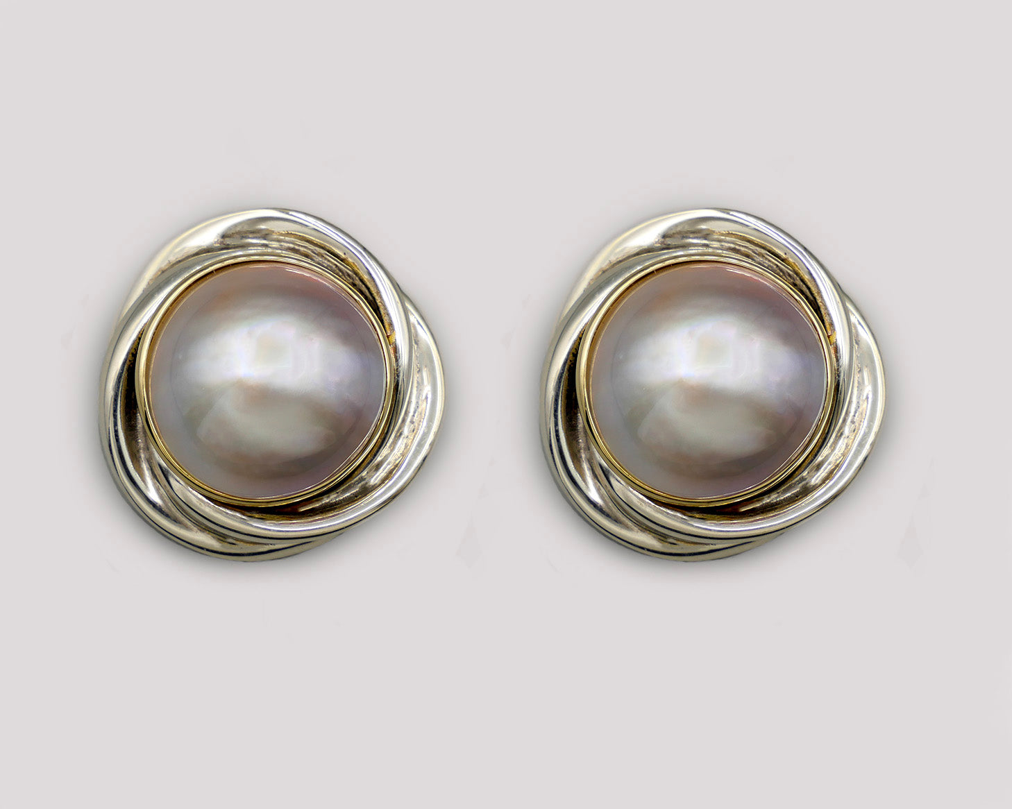 Love Knot Mabe Pearl Earrings
