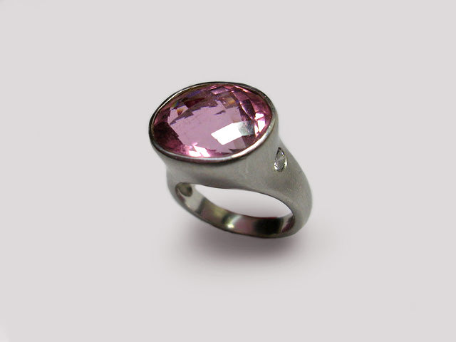 Rosewood Tourmaline Sculptured Ring