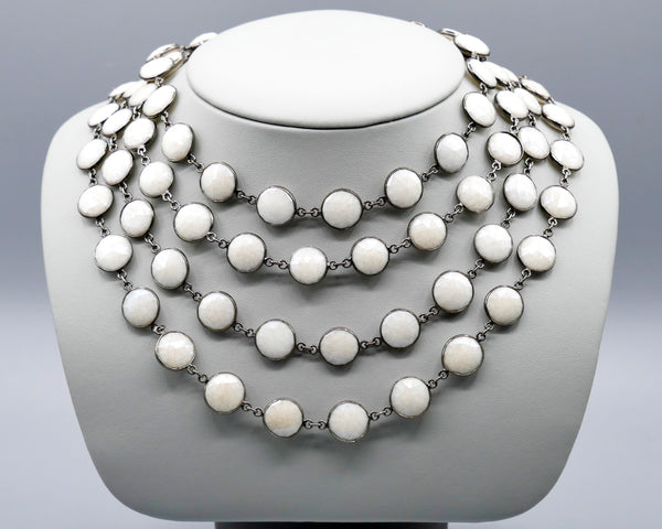 Necklace of White Chalcedony
