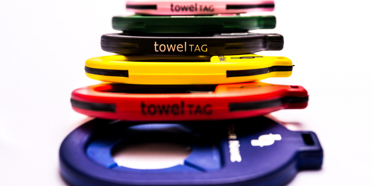 towel tags stacked
