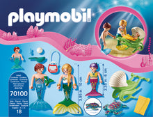Load image into Gallery viewer, Playmobil Magic Family with Shell Stroller