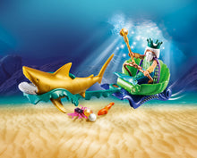 Load image into Gallery viewer, Playmobil Magic King of the Sea with Shark Carriage