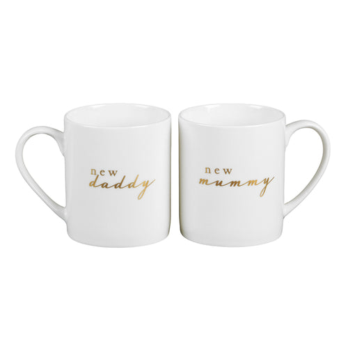 Bambino Gift Set Mugs - New Mummy & Daddy