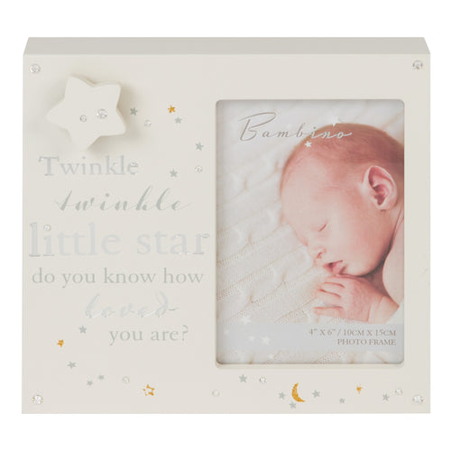 Bambino MDF Musical Photo Frame Twinkle Twinkle