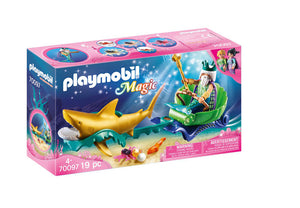 Playmobil Magic King of the Sea with Shark Carriage