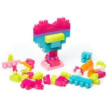 Load image into Gallery viewer, Mega Bloks Big Building Bag 60pcs Pink Bag