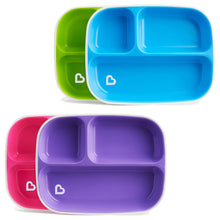 Load image into Gallery viewer, Munchkin Splash Divider Plates 4Pk Pink And Purple Green And Blue