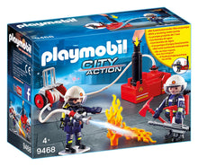 Load image into Gallery viewer, Playmobil Firefighters with Water Pump
