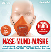 Load image into Gallery viewer, Playmobil Nose and Mouth Mask  Orange - Small
