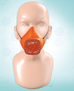 Playmobil Nose and Mouth Mask  Orange - Small