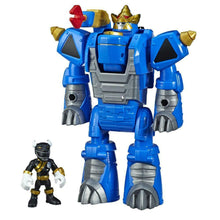 Load image into Gallery viewer, Playskool Heroes Power Rangers Morphin Zords Black Ranger and Rhino Zord