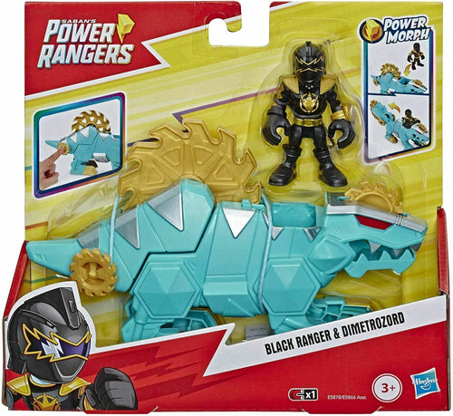Playskool Power Rangers Black Ranger and Dimetrozord