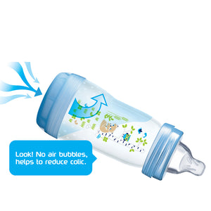 MAM Easy Start Anti-Colic Bottle Blue 260ml 3Pk