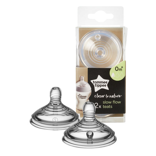 Tommee Tippee Closer to Nature Teat Slow Flow 2Pk