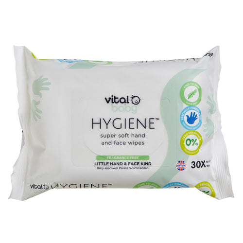 Vital Baby HYGIENE Super Soft Hand & Face Wipes Fragrance Free 5 PACKS
