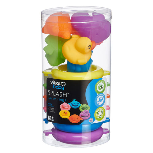 Vital Baby SPLASH Bath Toy Swim Rings 6Pk