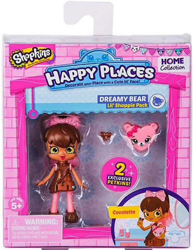 Shopkins Happy Places Dreamy Bear Cocolette Figure With 2 Exclusive Petkins