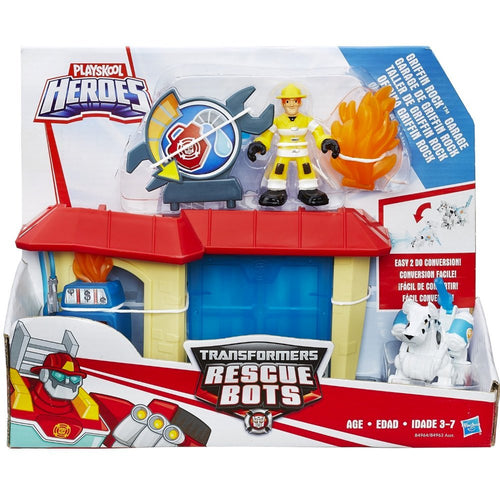 Transformers Playskool Heroes  Rescue Bots Griffin Rock Garage
