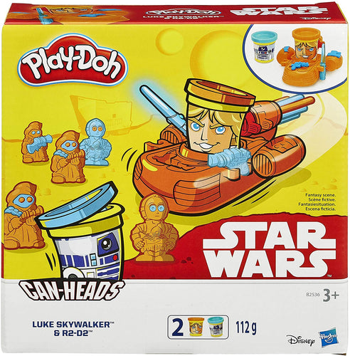Play-Doh Can Heads Starwars Luke Skywalker And R2D2 Pack