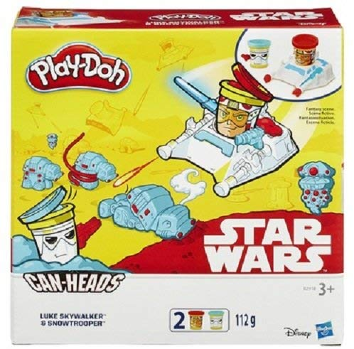 Play-Doh Starwars Can Head Luke Skywalker With Snow Trooper