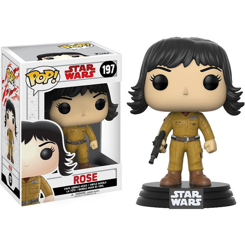 Funko Pop Movies Star Wars The Last Jedi Rose 197 Bobble Head Figure