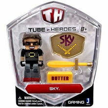 Load image into Gallery viewer, Tube Heroes 2.75 inch Action Figures  Sky  Pack