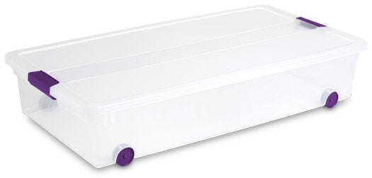 Sterilite 60qrt / 57 liter Clearview under bed storage box