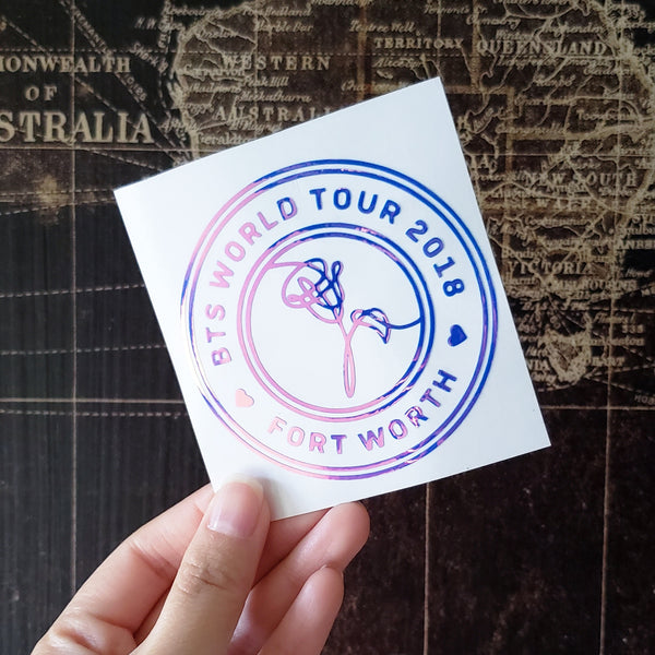 BTS World Tour Badge Decal