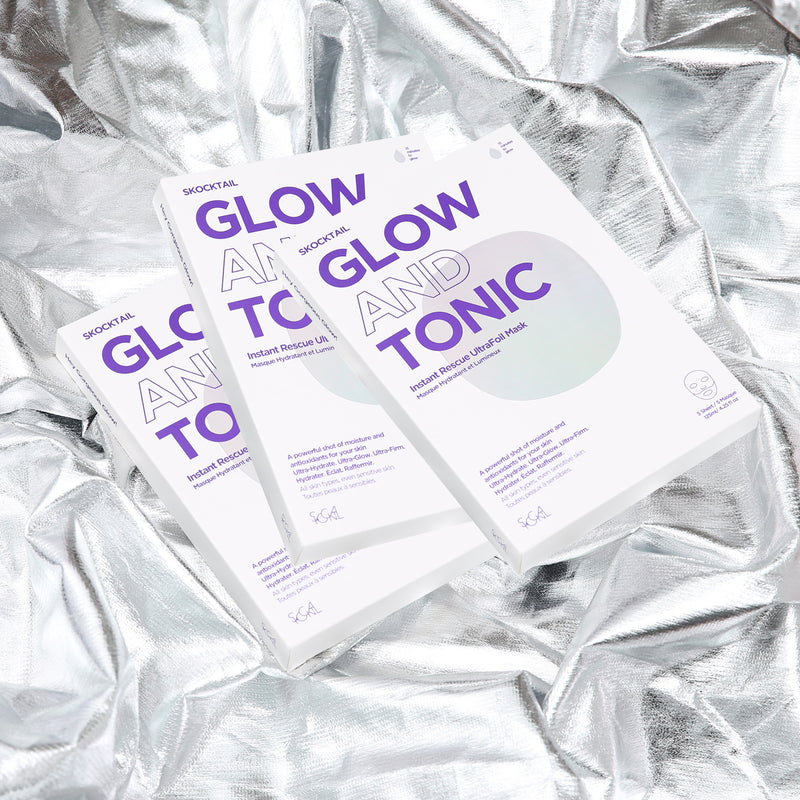 GLOW and TONIC Instant Rescue UltraFoil Mask Value Set (15 pcs x 25ml)