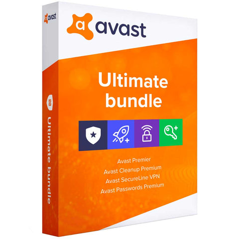 AVAST Ultimate 2020 (4 in 1 Bundle) 1 Year Licence for Windows PC