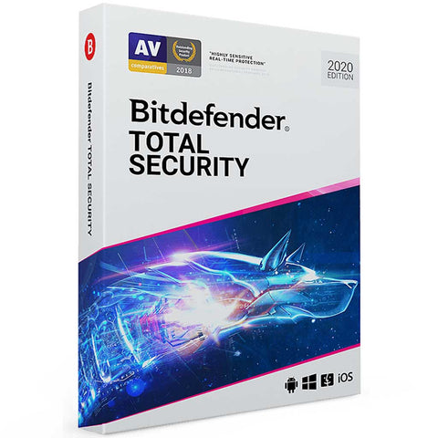 Bitdefender Total Security 2020 1 Year Licence for Windows PC & MAC