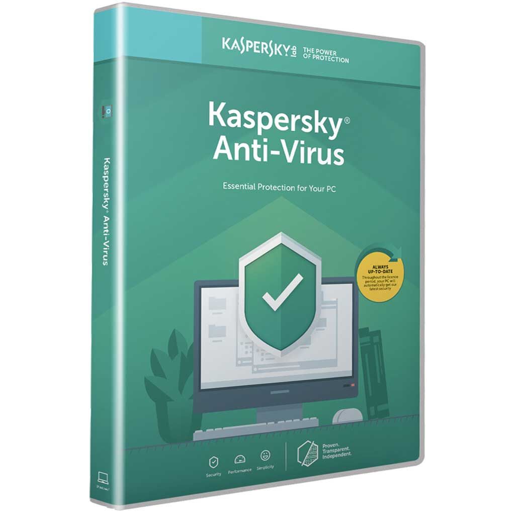 Kaspersky Antivirus 2020 1 Year Licence for Windows PC