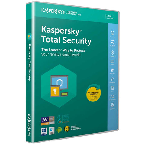Kaspersky Total Security 2020 1 Year Licence for Windows PC & MAC