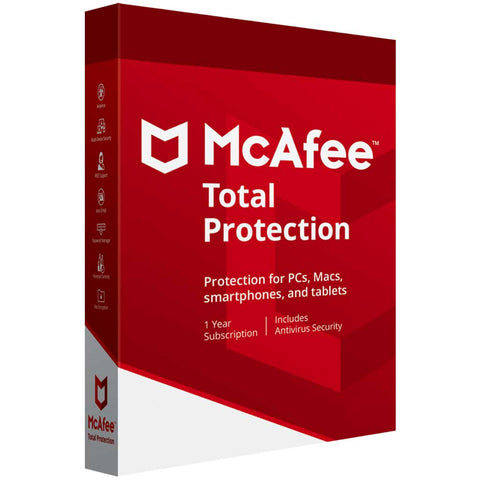McAfee Total Protection 2020 1 Year Licence for Windows PC & MAC