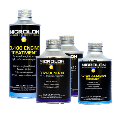 Microlon High Performance Motorcycle Engine Treatment Kit - 1000-1499cc 4-Stroke Engines