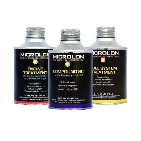Microlon Motorcycle Engine Treatment Kit - 100-499cc 4-Stroke Engines