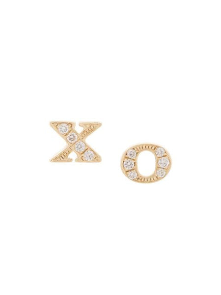 XO Diamond Stud Earrings