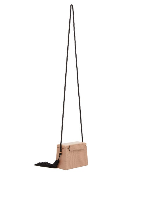 Mini Square Lizard Trunk Crossbody Bag Back