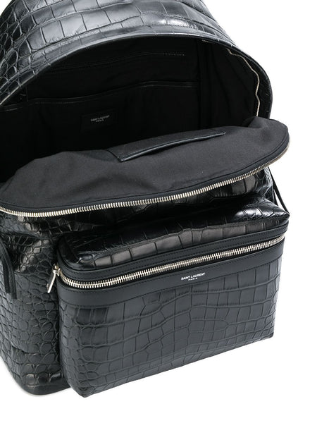 City Crocodile-Effect Backpack