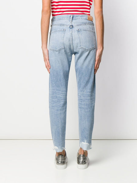 Blue Stonewashed Jeans Back
