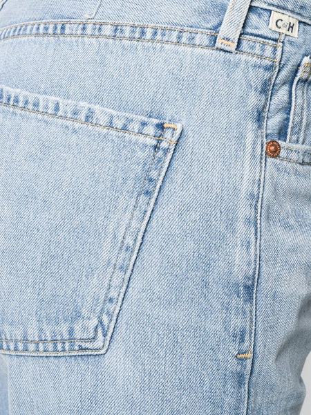 Blue Stonewashed Jeans Pocket