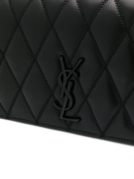 Angie Quilted Shoulder Bag Logo Detail