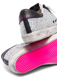 Superstar glittered low-top sneakers