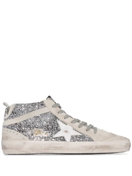 Mid Star Glittered Sneakers