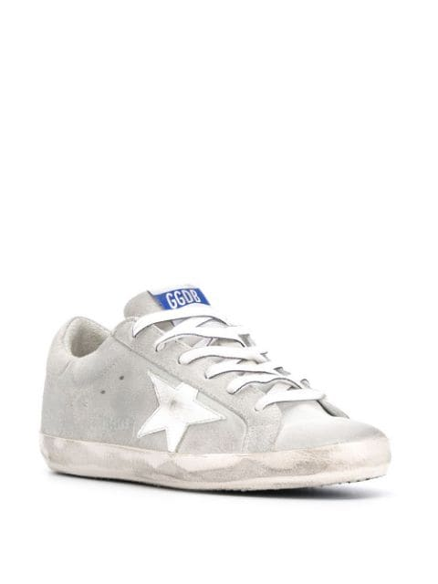 Superstar Sneakers Gray and White Right