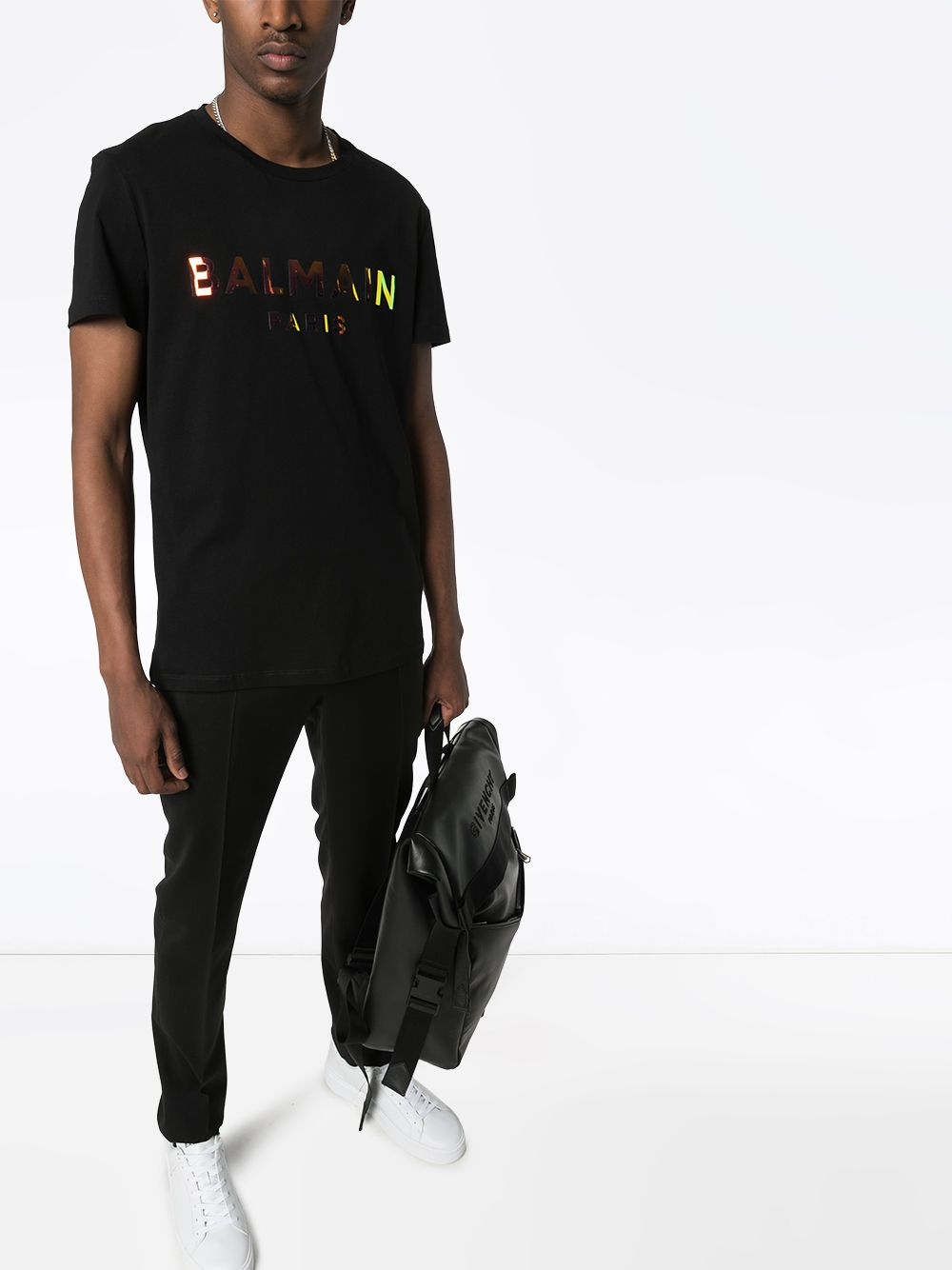 Logo T-Shirt - Black On Model